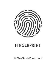 Fingerprint Rounded Shape of Print Poster Vector -...
