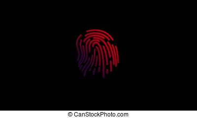 Fingerprint scan animation - Animation of scanning and...