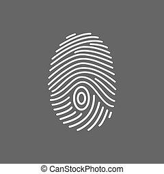 Fingerprint scan icon.