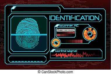Fingerprint scanner, identification