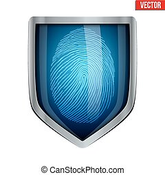 Fingerprint scanner inside shield - Fingerprint scanner...