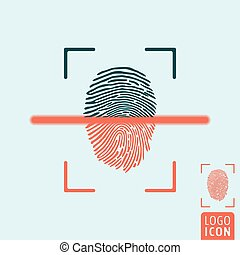 Fingerprint scanning icon