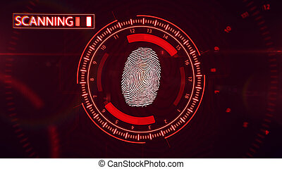 Fingerprint scanning technology.