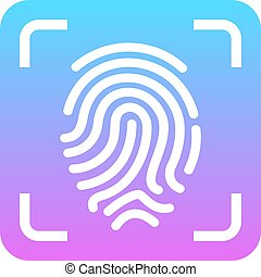 Fingerprint scanning vector icon