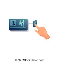 Fingerprint security touch button identity card personal information