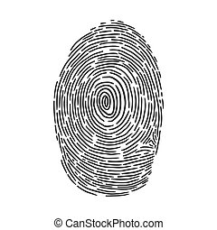 fingerprint sketch engraving vector illustration. T-shirt apparel print design. Scratch board imitation. Black and white hand drawn image.