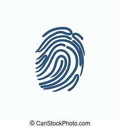 Fingerprint sketch icon.