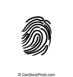 Fingerprint sketch icon.