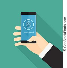 Fingerprint smartphone security