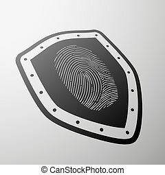 fingerprint. Stock illustration. - Imprint of a human finger...