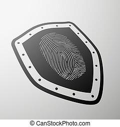 fingerprint. Stock illustration.