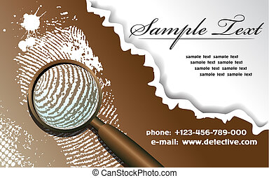 Fingerprint - The vector image of a card with a fingerprint...