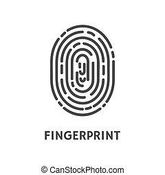 Fingerprint Unique Finger Pattern Poster Vector -...