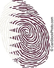 Fingerprint vector colored with the national flag of Qatar