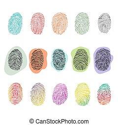 Fingerprint vector fingerprinting identity with fingertip ...