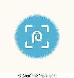 Fingerprint vector icon sign symbol