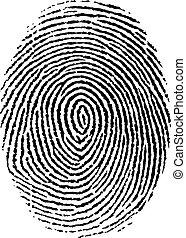 Fingerprint - Vector illustration, isolated, grouped, ...
