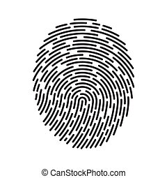 Fingerprint vector illustration isolated on white background