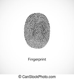 Fingerprint. Vector illustration isolated on white background