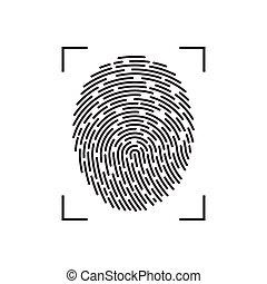 Fingerprint vector illustration isolated on white background
