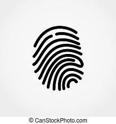 Fingerprint. Vector illustration.