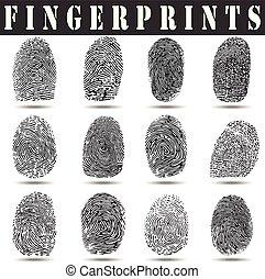 fingerprint vector illustration.