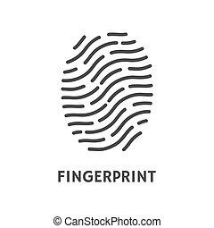 Fingerprint Verification Poster with Text Vector -...