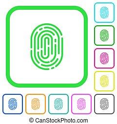 Fingerprint vivid colored flat icons icons - Fingerprint...