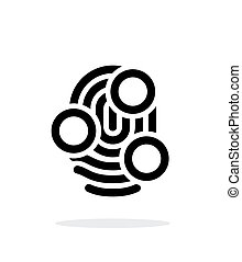 Fingerprint whorl type scan icon on white background. Vector...