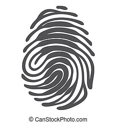 Fingerprint with keyhole shape