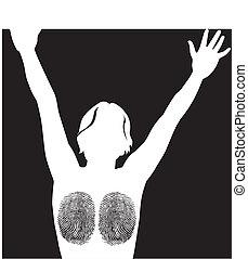 fingerprint woman