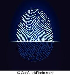 fingerprint19 - Fingerprint scanner, identification system. ...
