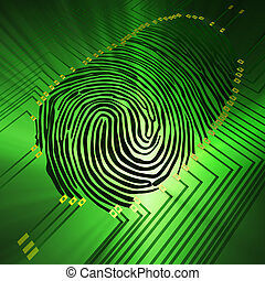 Fingerprinting - Scanning of a fingerprint with new...