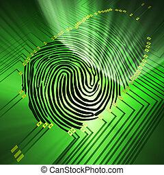 Fingerprinting - Scanning of a fingerprint with new...