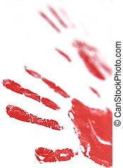 fingerprints and hands