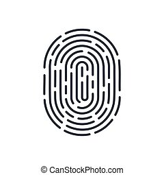 Fingerprints for Identity Person Security ID on White...