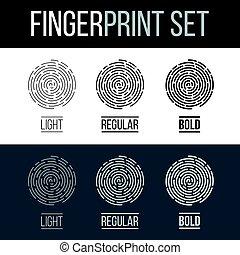 Fingerprints Set Print for Identification Authorization...