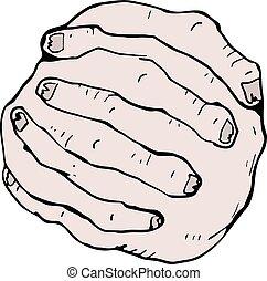 fingers crossed illustration