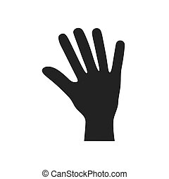 fingers human hand gesture icon. Vector graphic