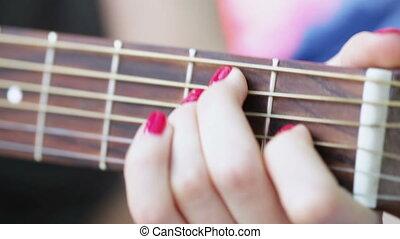 Fingers on frets