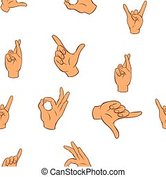Fingers pattern, cartoon style