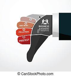 fingers shape bad news  jigsaw banner