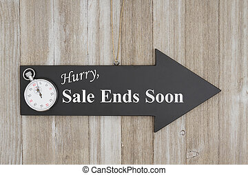 fini, fretta, presto, segno vendita