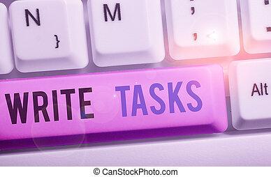 fini, morceau, conceptuel, projection, assigné, time., écrire, tasks., texte, certain, photo, être, souvent, dans, signe, travail