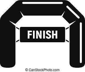 Finish arch icon, simple style