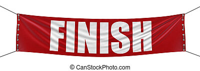 Finish Banner  - Big finish Banner. Image with clipping path