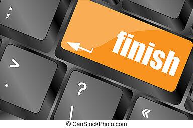 finish button on black internet computer keyboard