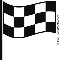 Finish flag icon, simple style