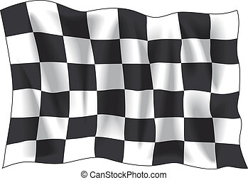 Finish flag - Race finish flag isolated on white background