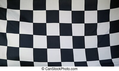 Finish Flag real fabric close up - Textile finish flag with...